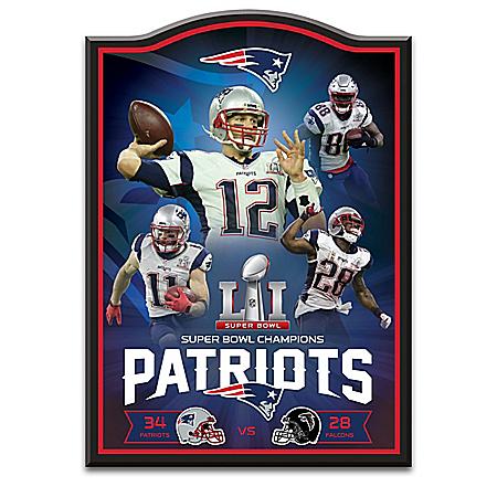 New England Patriots NFL Super Bowl LI Championship Wall Decor