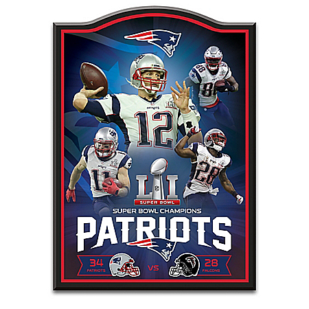 New England Patriots NFL Super Bowl LI Championship Wall Decor