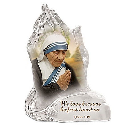 Saint Mother Teresa Of Calcutta Prayer Of Hope Crystalline Sculpture