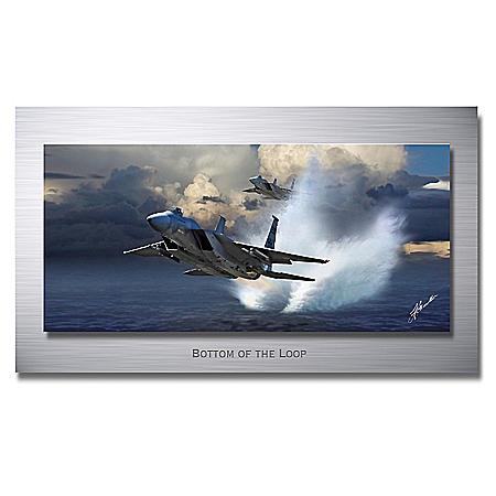 F-15 Eagle Fighter Jet Bottom of the Loop Gallery Metal Print Wall Decor