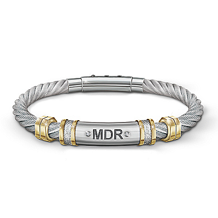 Strength For My Son Personalized Stainless Steel Men's Bracelet – Personalized Jewelry