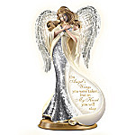 Forever In My Heart Illuminated Heirloom Porcelain Mosaic Angel Sculpture