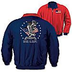 American Pride Men's Nylon And Fleece Reversible Jacket