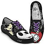 Disney Tim Burton's The Nightmare Before Christmas Jack Skellington & Sally Women's Canvas Shoes