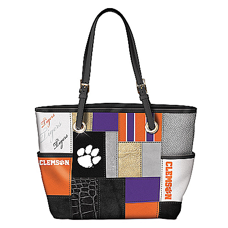 Clemson Tigers 2016 National Champions Patchwork Women's Tote Bag