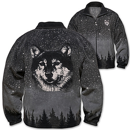 Al Agnew Wild Spirit Men's Brushed Fleece Jacket