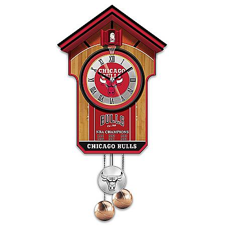 Handcrafted NBA Chicago Bulls Cuckoo Clock