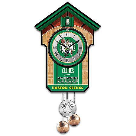 Boston Celtics NBA Cuckoo Clock