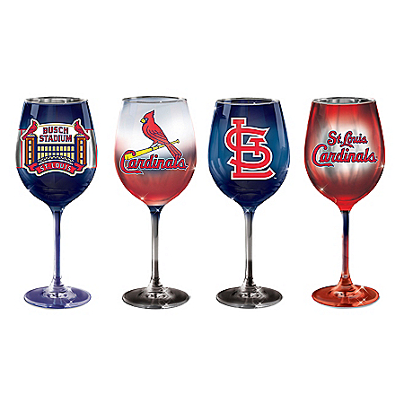 St. Louis Cardinals Pride MLB Hand-Fired Wine Glass Set