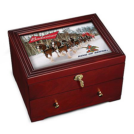 Budweiser: King Of Beers Custom-Crafted Wooden Keepsake Box