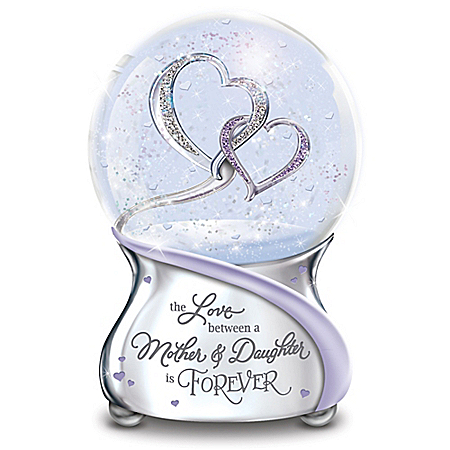 The Love Between Mother And Daughter Is Forever Musical Glitter Globe