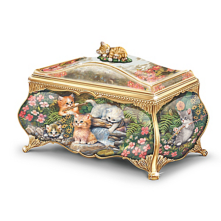Precious Kittens Music Box