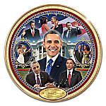 Barack Obama America's 44th President Commemorative Collector Plate