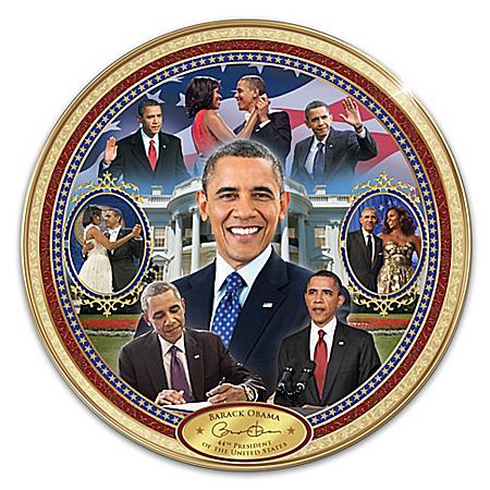 Barack Obama America's 44th President Commemorative Collector Plate 126937001