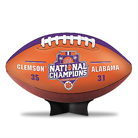 Clemson Tigers 2016 National Champions Commemorative Leather-Touch Football