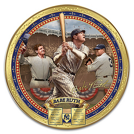 Cooperstown Collection New York Yankees Babe Ruth Commemorative Collector Plate