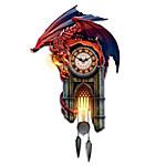 Reign Of Fire Dragon Illuminated Wall Clock