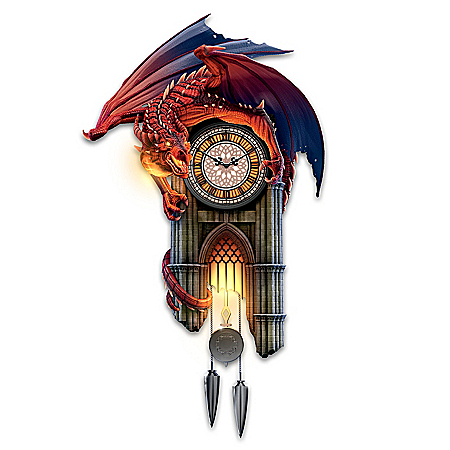 Reign Of Fire Dragon Illuminated Wall Clock