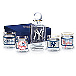 New York Yankees MLB Legacy Glass Decanter Set