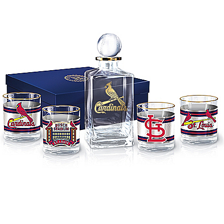 St. Louis Cardinals MLB Legacy Decanter Set