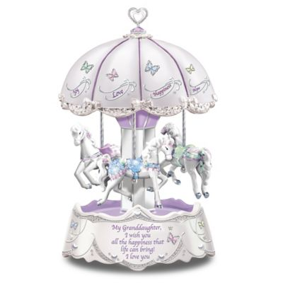 Bradford Exchange Granddaughter, I Wish You Illuminated Carousel
