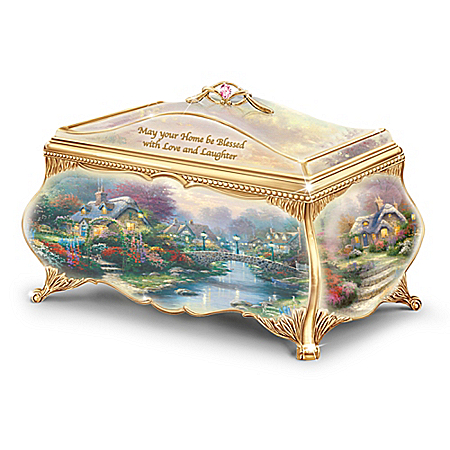 Thomas Kinkade Peaceful Evening Music Box