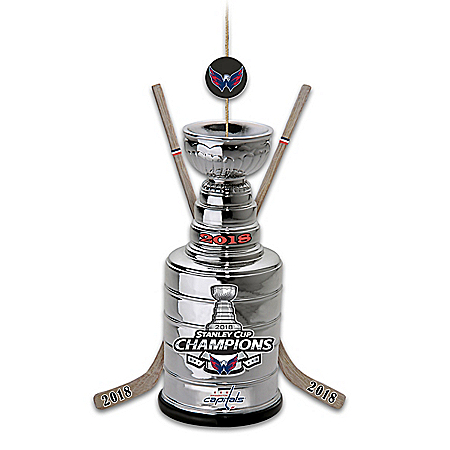 NHL Licensed Washington Capitals 2018 Stanley Cup Champions Christmas Ornament