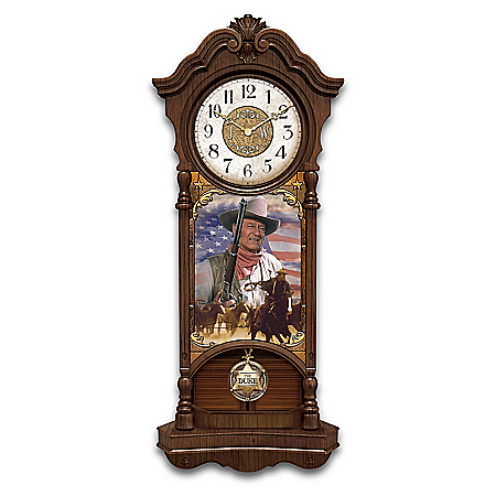John Wayne, True Patriot Illuminated Wall Clock