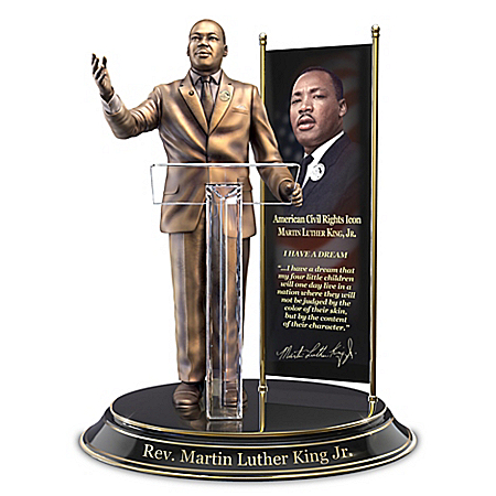 Rev. Martin Luther King Jr. Commemorative Hand-Cast Sculpture