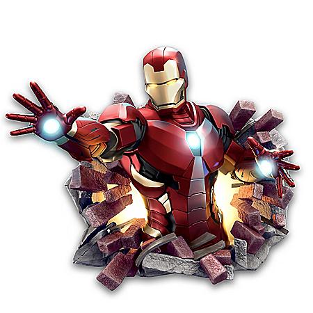 MARVEL Iron Man Illuminated Plaque Wall Decor