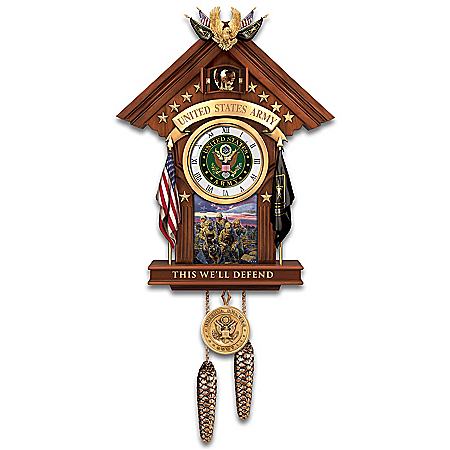 This We'll Defend US Army Cuckoo Clock
