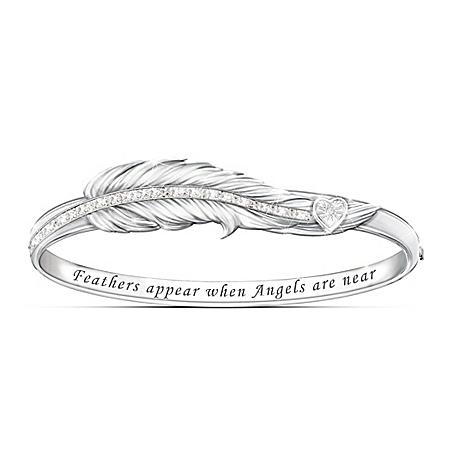When Angels Are Near Remembrance Diamond Bracelet