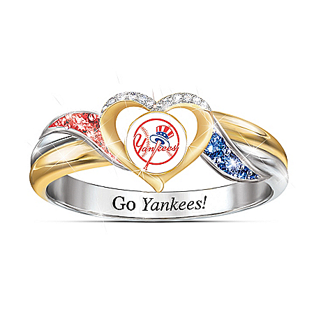 New York Yankees MLB Women's Pride Ring