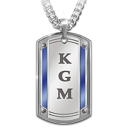 Proud To Call You Son Personalized Stainless Steel Dog Tag Pendant Necklace – Personalized Jewelry
