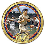 New York Yankees Mickey Mantle Commemorative Heirloom Porcelain Collector Plate