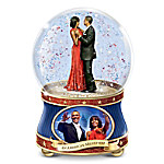 Barack And Michelle Obama - An American Milestone Musical Glitter Globe