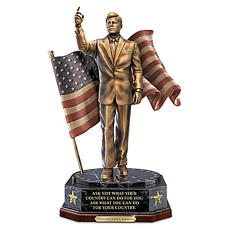 President John F. Kennedy Cold-Cast Bronze Talking Tribute Sculpture 127233001