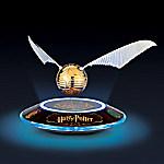 HARRY POTTER Levitating Illuminated GOLDEN SNITCH Sculpture