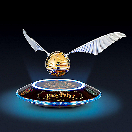 HARRY POTTER Levitating Illuminated GOLDEN SNITCH Sculpture