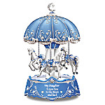 Daughter, I Love You To The Moon And Back Illuminated Carousel Music Box
