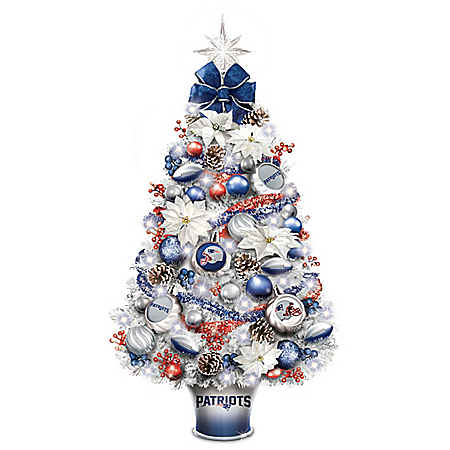 New England Patriots Tabletop Tree
