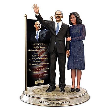 Barack and Michelle Obama Farewell Commemorative Tribute Sculpture 127255001