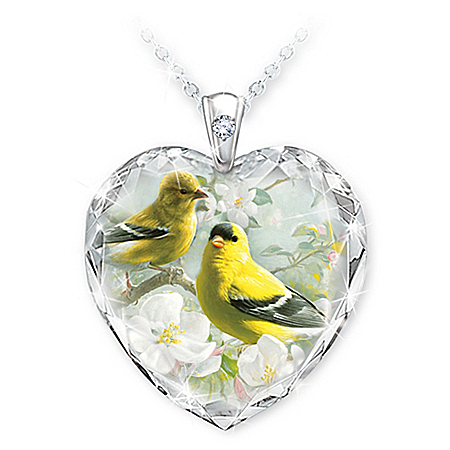 Gifts Of Nature Inspirational Bird Pendant Necklace Set