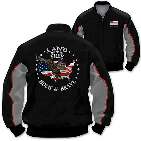 Proud Nation Men's Cotton Twill Two-Toned Patriotic Jacket