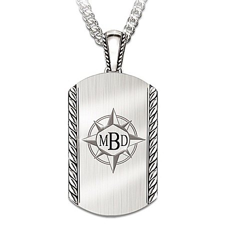 Discover Your Path, My Son Personalized Stainless Steel Pendant Necklace – Personalized Jewelry