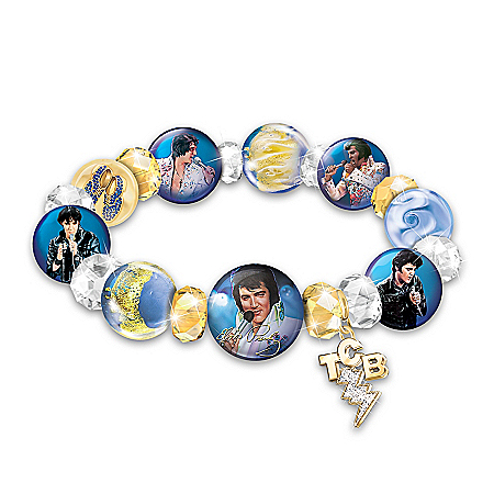 A Legend Redefined Elvis Presley Porcelain And Glass Women's Bracelet