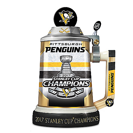 Pittsburgh Penguins 2017 Stanley Cup Champion Tribute Porcelain Stein: 1 of 5000