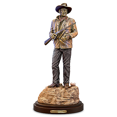 Standing Tall: John Wayne Cold-Cast Bronze Sculpture