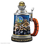 Golden State Warriors 2017 NBA Finals Champions Sculpted Porcelain Stein