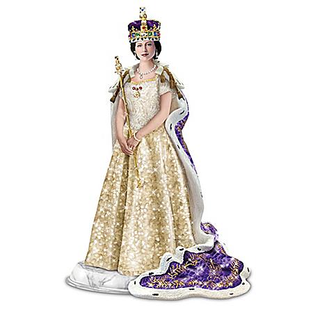 Queen Elizabeth Coronation Hand-Cast Sculpture